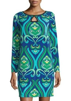 Laundry by Shelli Segal Long-Sleeve Printed Shift Dress