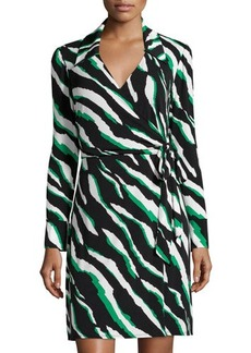 Laundry by Shelli Segal Long-Sleeve Printed Wrap Dress