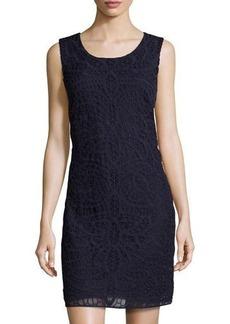 Laundry by Shelli Segal Mesh Lace Shift Dress