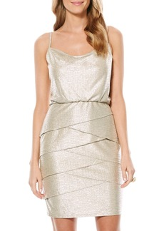 Laundry by Shelli Segal Metallic Blouson Dress