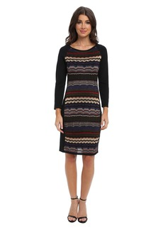 Laundry by Shelli Segal Multi Stitch Sweater Dress