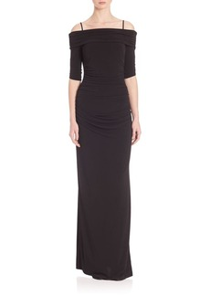 Laundry by Shelli Segal Off-The-Shoulder Jersey Gown