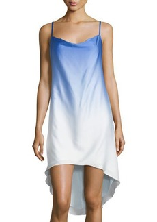 Laundry by Shelli Segal Ombre High-Low Slip Dress