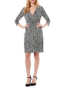 LAUNDRY BY SHELLI SEGAL Patterned Wrap Dress