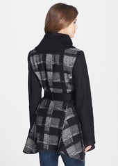 Laundry by Shelli Segal Plaid Skirted Wrap Coat