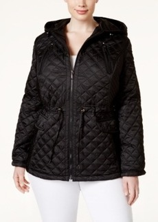 Laundry by Shelli Segal Plus Size Quilted Anorak Jacket