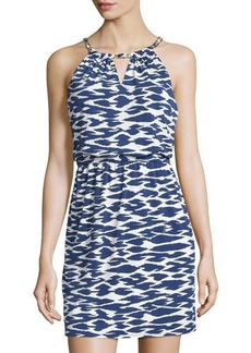 Laundry by Shelli Segal Printed Chain-Neck Sleeveless Dress