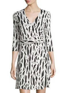 Laundry by Shelli Segal Printed Jersey Wrap Dress