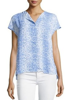 Laundry by Shelli Segal Printed V-Neck Blouse