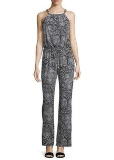 Laundry by Shelli Segal Printed Wide Leg Chain Link Jumpsuit