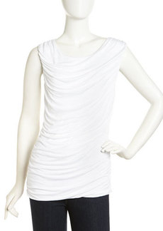 Laundry by Shelli Segal Ruched Viscose Tank Top