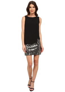 Laundry by Shelli Segal Sequin Skirt with Georgette Pop Over