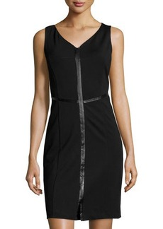 Laundry by Shelli Segal Sleeveless Compressed Knit Dress