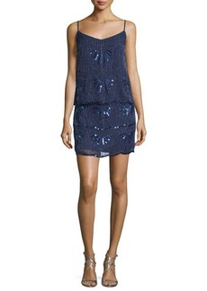 Laundry by Shelli Segal Sleeveless Embellished Popover Dress