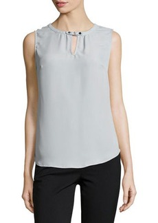 Laundry by Shelli Segal Sleeveless Keyhole-Front Top