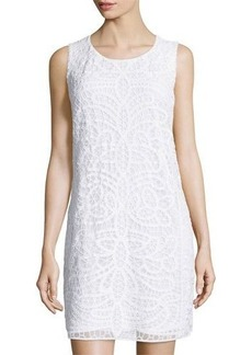 Laundry by Shelli Segal Sleeveless Mesh Lace Shift Dress