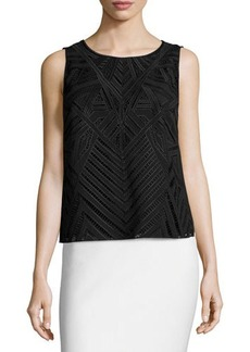 Laundry by Shelli Segal Sleeveless Popover Embroidered Top
