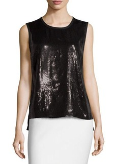 Laundry by Shelli Segal Sleeveless Sequined Tank