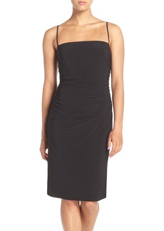Laundry by Shelli Segal Spaghetti Strap Ruched Cocktail Dress