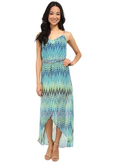 Laundry by Shelli Segal Sparkler Georgette Tulip Hem Maxi