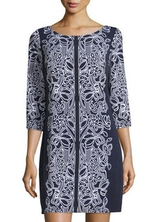 Laundry by Shelli Segal V-Back Floral Dress