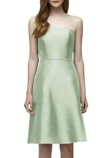 Lela Rose Bridesmaid Embellished Waist Strapless Dress