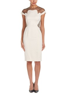 Lela Rose Lela Rose Wool-Blend Sheath Dress