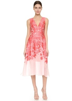 Lela Rose V-Neck Dress