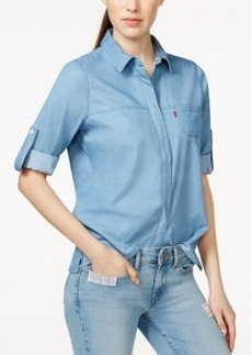 Levi's High-Low Roll-Tab-Sleeve Shirt