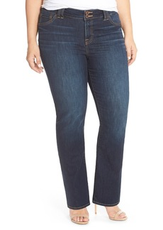 Lucky Brand 'Emma' Stretch Bootcut Jeans (Blue) (Petite Plus Size)