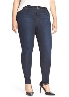 Lucky Brand 'Emma' Stretch Denim Leggings (Plus Size)