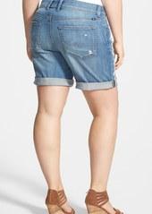 Lucky Brand 'Georgia - Henna' Embroidered Denim Shorts (Plus Size)