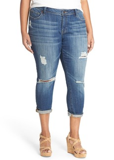 Lucky Brand 'Georgia' Distressed Boyfriend Jeans (San Jacinto) (Plus Size)