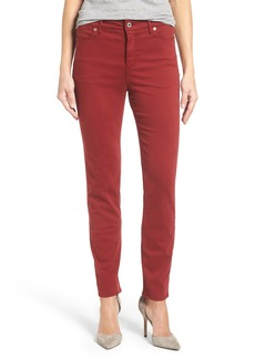 Lucky Brand 'Hayden' Colored Stretch Skinny Jeans (Merlot)