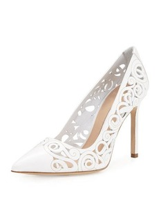 Manolo Blahnik BB Roc Laser-Cut 105mm Pump