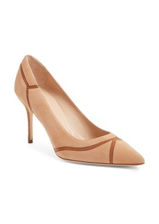 Manolo Blahnik 'Dasti' Bicolor Patchwork Pointy Toe Pump (Women)