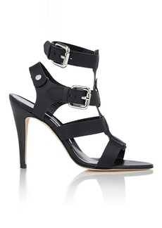 Manolo Blahnik Oceailono Double-Buckle Sandals