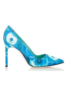 Manolo Blahnik Tie-Dyed BB Pumps