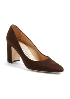 Manolo Blahnik 'Tuccioto' Almond Toe Pump (Women)