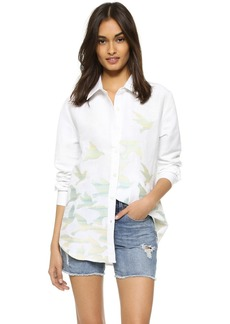 Mara Hoffman Birds Embroidered Button Down Blouse