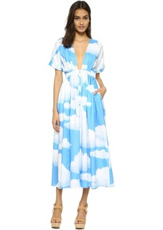Mara Hoffman Clouds Deep V Dress