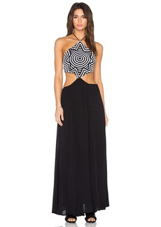 Mara Hoffman Crochet Cut Out Side Dress