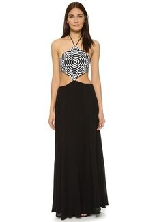 Mara Hoffman Crochet Cutout Side Dress