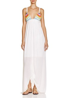 Mara Hoffman Crochet Tie-Front Dress Swim Cover Up