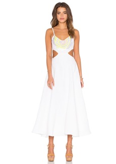 Mara Hoffman Embroidered Cut Out Dress
