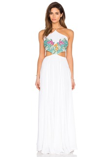 Mara Hoffman Embroidered Halter Maxi Dress
