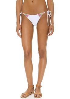 Mara Hoffman Embroidered Tie Side Bikini Bottoms