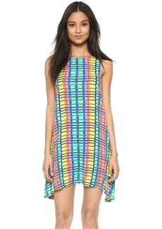 Mara Hoffman Flight Rainbow Crinkle Swing Dress