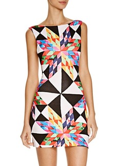 Mara Hoffman Fractals Printed Cutout Dress