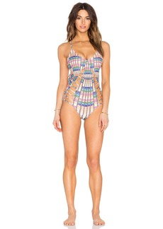 Mara Hoffman Lattice One Piece Swimsuit